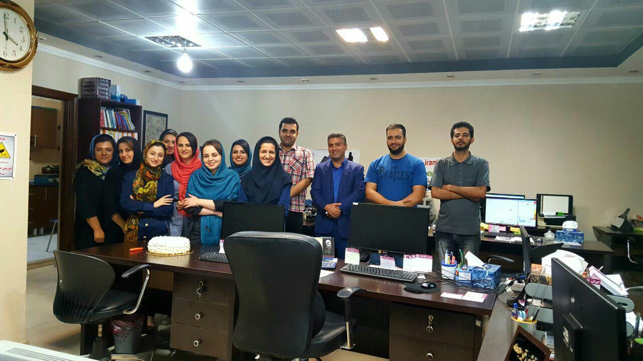 تولد خانم کرمیان در شرکت ایران تایپیست